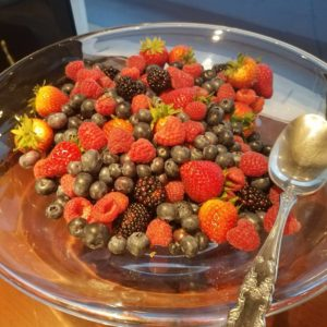 island girl catering. local berries. farm to table